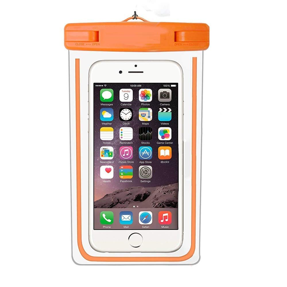 Universal Waterproof Case, IPX8 Waterproof Phone Pouch Dry Bag Compatible  iPhone XR/XS Max/XS/X, Samsung S10/S10 Plus/S9/S9 Plus/Note 9 and 4~6 5  Inch