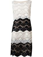 Jessica Simpson Women's Color-Block Tiered Lace Dress