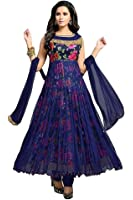 salwar suits for women(surti funda_Blue_Rose_Salwar Suits-freesize)