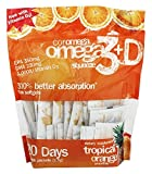 omega 3 and vitamin e - Coromega Omega-3 Squeeze Packets with Vitamin D3, DHA and EPA, Tropical Orange, 120-Count (Packaging may vary)