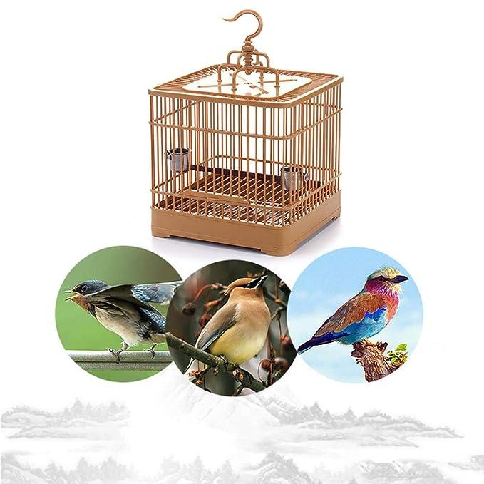 Knowled Jaula para Pájaros Jaula de Aves Canarios, Jaula Redonda ...