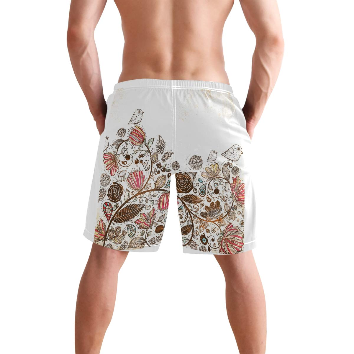 DEYYA Magpie Summer Beach Shorts Pants Mens Swim Trunks Board Short for Men