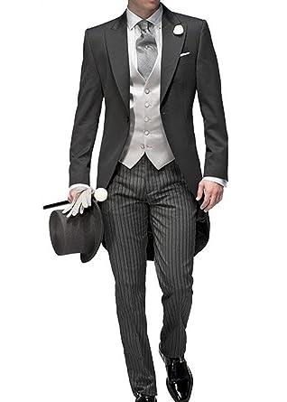 Solovedress mens wedding tuxedo blazer three piece mens suit vest solovedress mens wedding tuxedo blazer three piece mens suit vest trousers set amazon clothing junglespirit Gallery