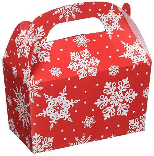 amscan Christmas Snowflake Gable Boxes | Party Supply, 60 Ct.