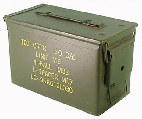Texto original en la caja de municiones usadas Ejército de los E.E.U.U. para 300 Calibre De Los Cartuchos 7,62 Caja de metal Caja Mun Contenedor Metallbox: Amazon.es: Deportes y aire libre