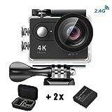 Videocamera 4K WiFi Mini DV Daping Action Cam 1080P / 30 fps e Full HD, 2 Pollici Lcd + 170 ° Grandangolare, Impermeabile Fino a 30m, Action Camera WIFI con 2 Batterie + Vari Accessori