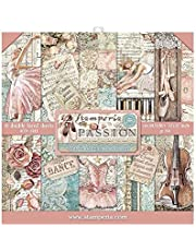 """Stamperia Scrapbooking Pad 10 Sheets - 30.5x30.5 (12""""x12"""") - Passion"""