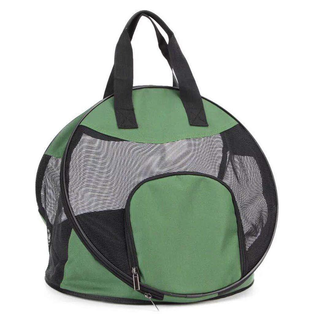 Green Outing Pet Bag Cat Bag Dog Bag, Foldable Light Breathable Triangle Pet Bag Handbag (color   Green)