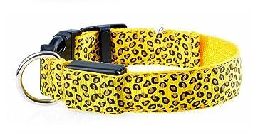 Maycong Sin arnés de jalar Leopardo LED Mascota Personalidad ...