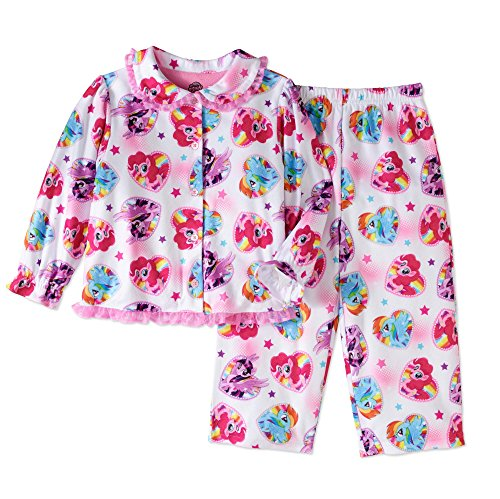 AME Little Pony Movie Little Girls Toddler Coat Pajama Set (Multi Colored Pony)