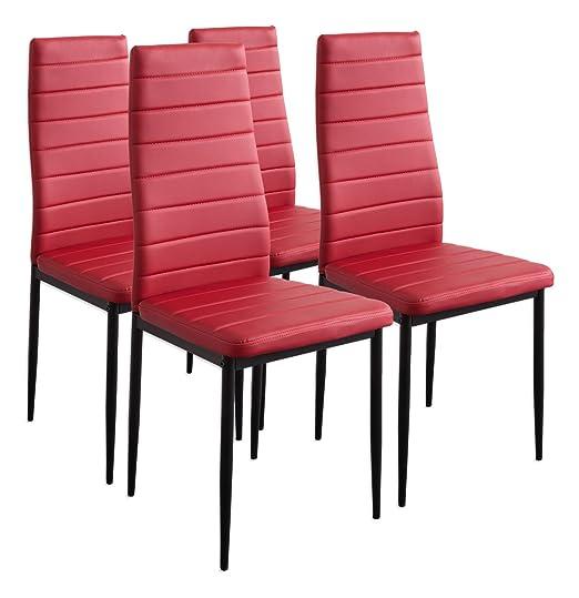 257 opinioni per Albatros 2704 Milano 4 x sedia, rosso
