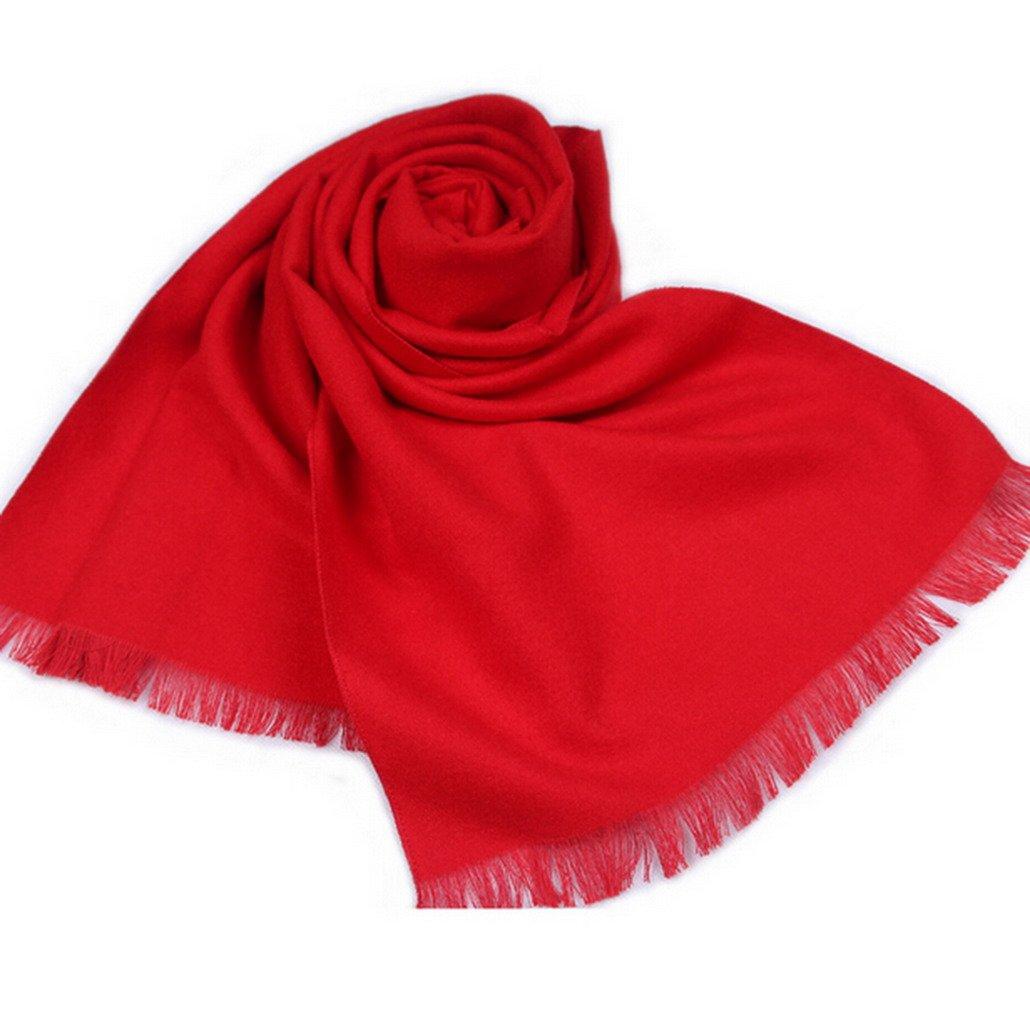 Herren Herbst Winter Schal Einfarbig Schal f/ür Hochzeitstag Rot Panegy