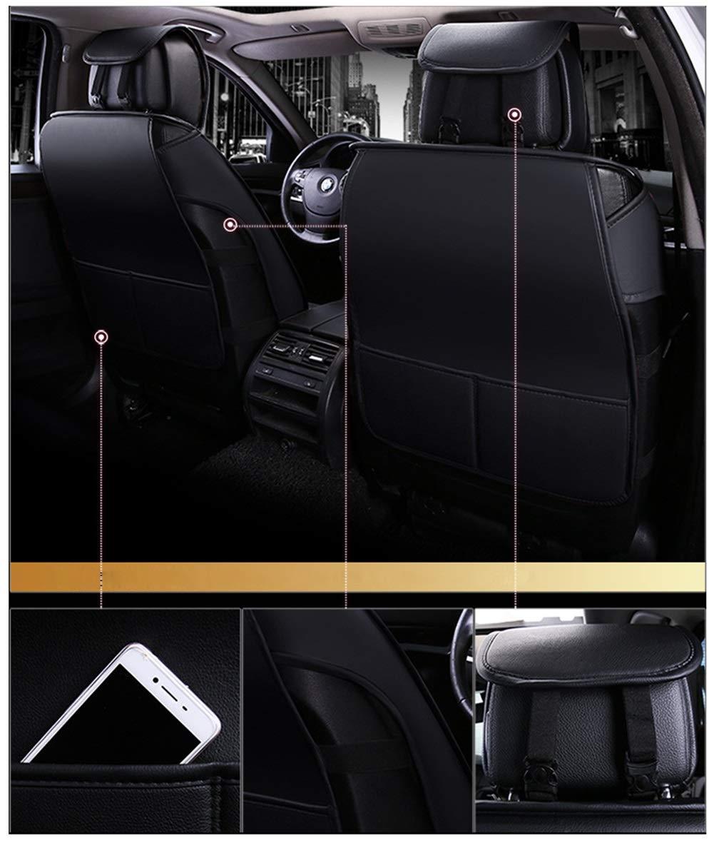 Farbe : Black+White Autositzbez/üge Set f/ür die Vordersitze /& R/ückbank Satz 9 St/ück Zum 5 Sitze Ededi Leder Sitzbez/üge-Set Kissen