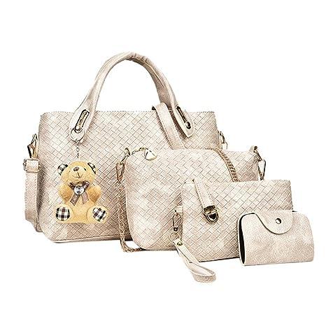 Bolsos de mano para mujer, 4 piezas, bolsa de mano de ...