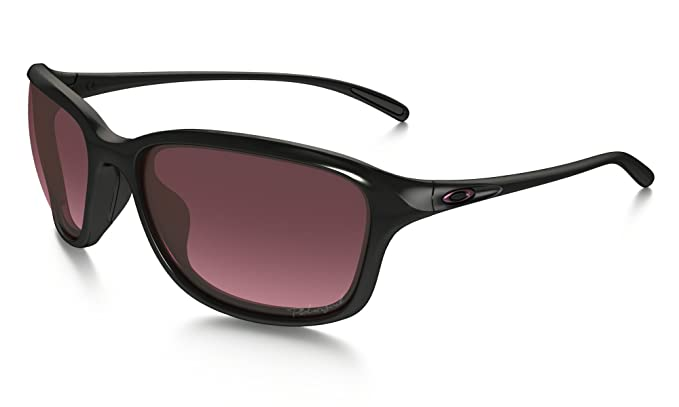 Oakley Womens Shes Unstoppable Polarized Sunglasses Polished Black/Rose  Gradient