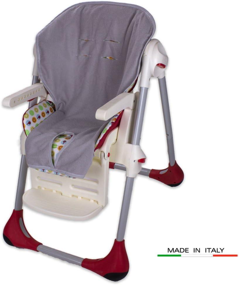 Babysanity rev/êtement housse de chaise haute universelle en microfibre douce couleur beige.
