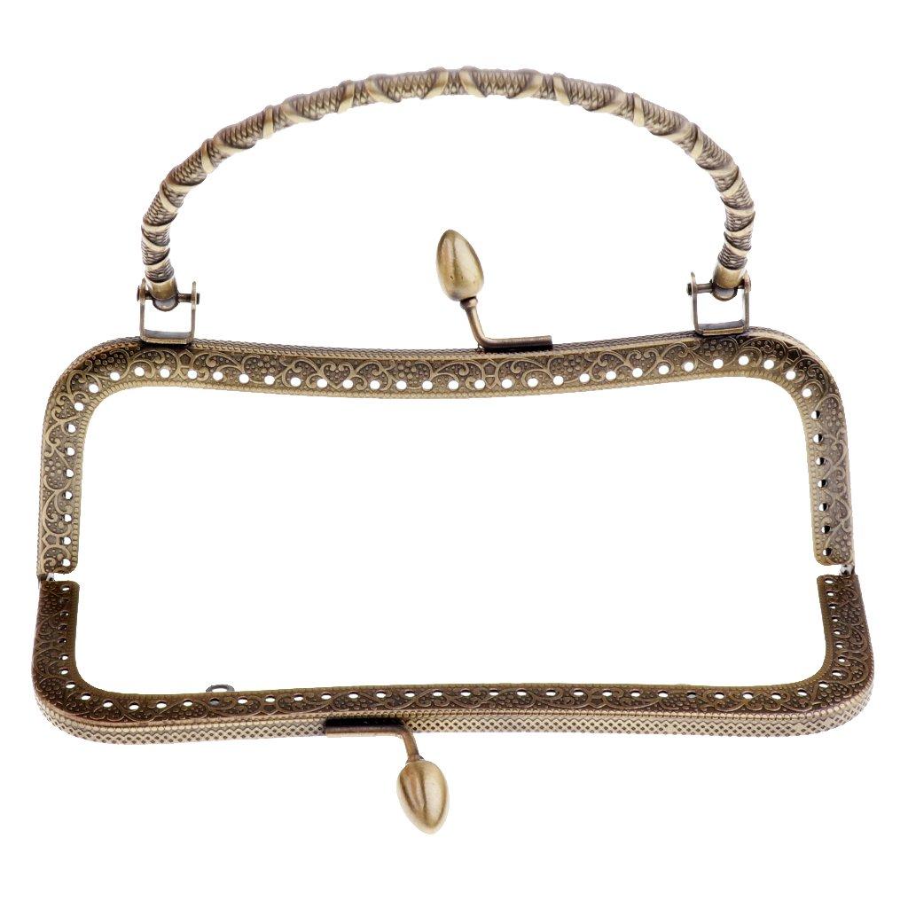Homyl Bronze Tone Metal Embossed Purse Bag Frame Kiss Clasp With ...
