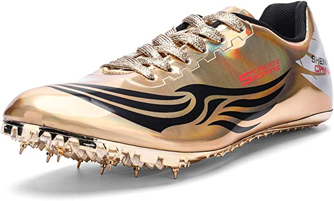 Zapatillas de Deporte para Hombre con Pinchos para Atletismo y Correr, Ligeras y cómodas, Dorado (Dorado), 40 EU: Amazon.es: Zapatos y complementos