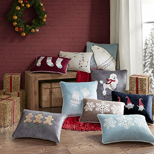 Madison Park Holiday Gnome Party Pillow, 14