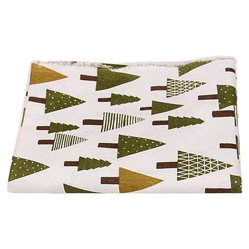 Weihnachtsbaum Muster Baumwolle Leinen Nähen Stoff Tischdekoration ...