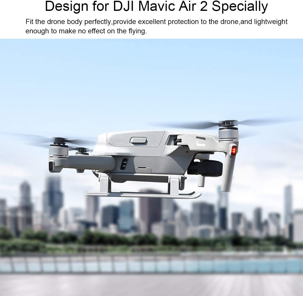 Collapsible Landing Gear for DJI Mavic Air 2,Extensions Landing Legs Compatible with DJI Mavic Air 2 Drone Accessories