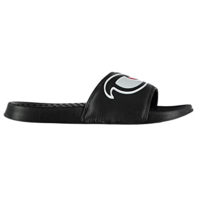 58f096647412 No Fear Mens Forever Sliders Shoes Water Pool Beach Summer Synthetic Upper  Black UK 10 (44)  Amazon.co.uk  Shoes   Bags