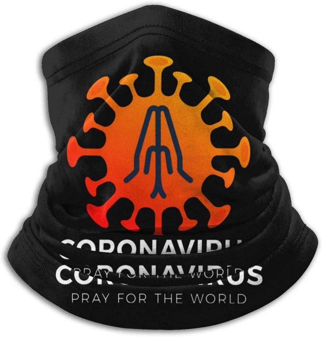 Pray for the World Coron-Avirus Cache-cou en microfibre