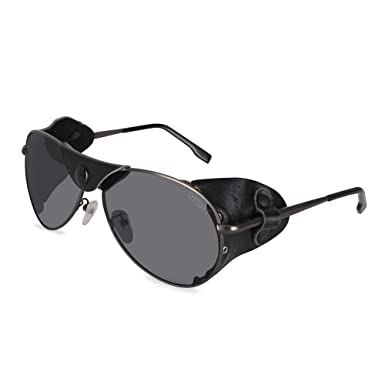 OSSAT Classic Glacier Sunglasses Hiking Windbreak, Locomotive, Polarizing Sunglasses