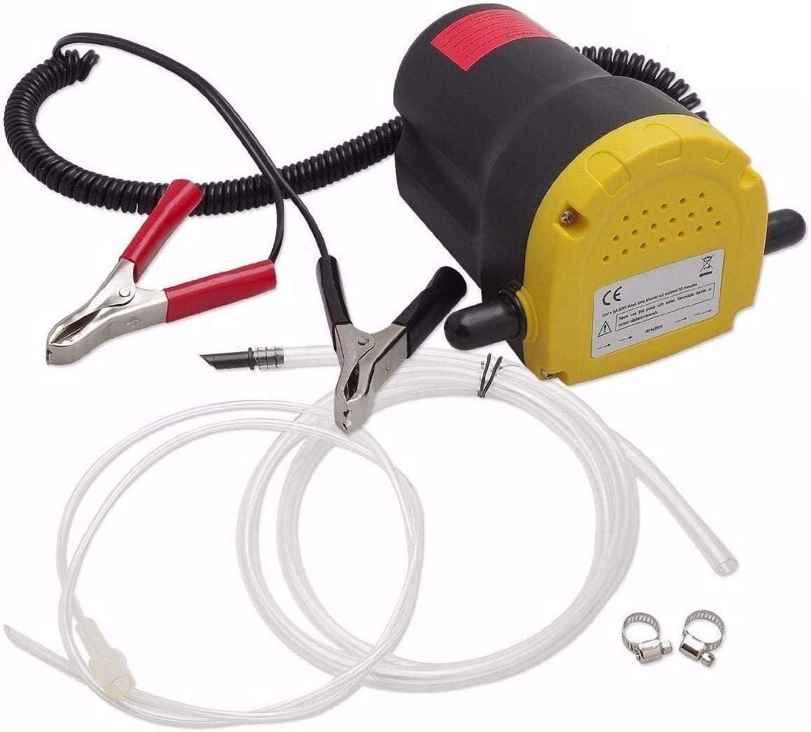 Poweka Bomba de Extracción de Aceite Bomba de Aceite de Aspiración para Automóviles/Motocicletas/Barcos/Caravanas/Camiones, Bomba de Transferencia Aceite y Diesel 5A 12V