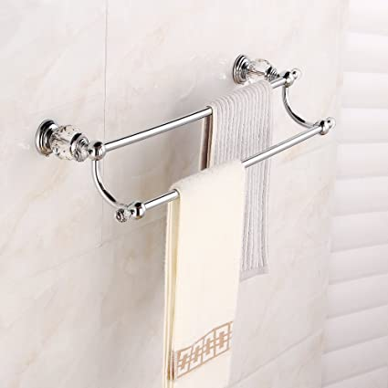 Amazon.com: Beelee BA5202C Brass&Crystal Series Bath Towel Rack ...
