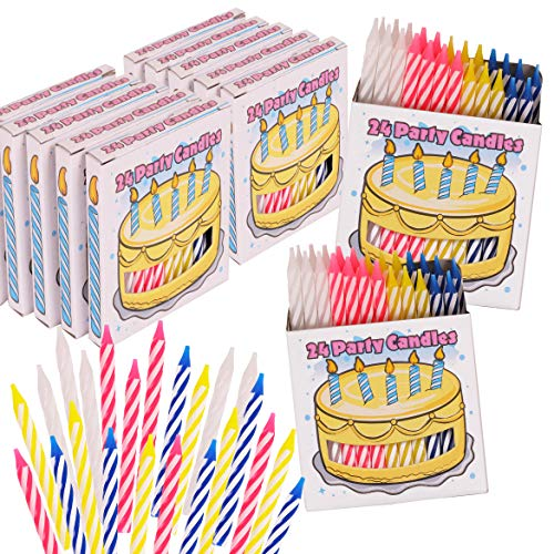Kangaroo 288-Count Happy Birthday Candles; 12 One Dozen Packs of 24 Wax Candles for Your Next Birthday Party