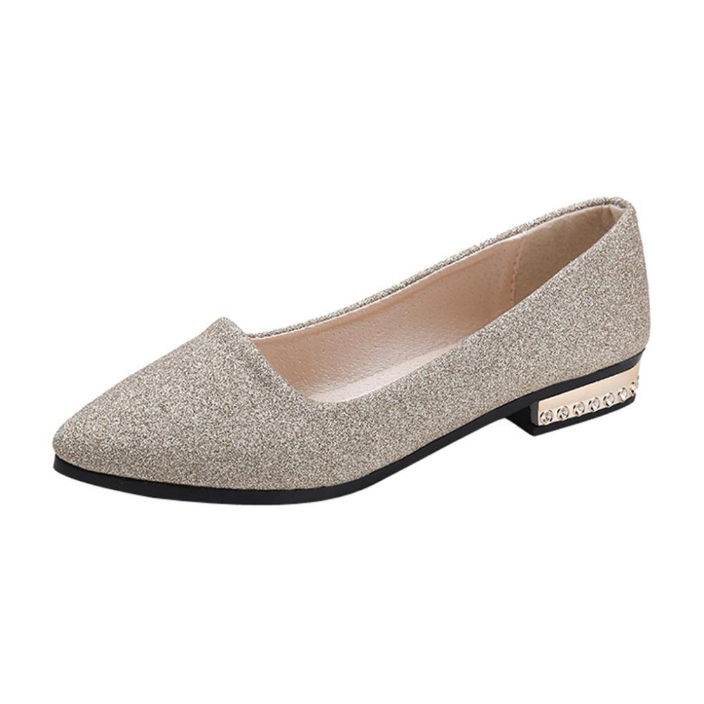 Zapatos de Vestir para Mujer Oto/ño 2018 PAOLIAN Calzado de Dama de Fiesta Lentejuelas con Tac/ón Ancho C/ómodos Boda Calzado de Trabajo Planos Bajos Moda Zapatos con Punta