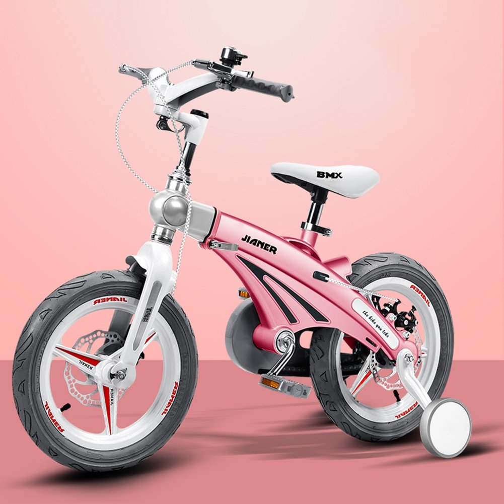 XQ 子供の自転車男の子の自転車2-4-6歳の赤ちゃんキャリッジ12/14/16インチ子供の自転車 子ども用自転車 ( 色 : ピンク ぴんく , サイズ さいず : 14-inch ) B07C5Q71YK 14-inch|ピンク ぴんく ピンク ぴんく 14-inch