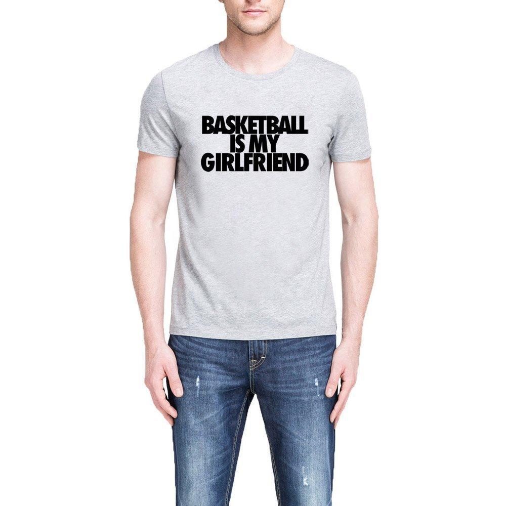 Loo Show Mens Basketball is My Girlfriend Funny Black T-Shirt Tee
