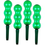Garden Innovations Aqua Balance Plant Watering Spikes and Globes with Weather/Temperature Controlled (4 Pack), Garden Green, 1.25 litre