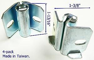 """Oajen Caster Socket for 7/16"""" Diameter Grip Ring stem, Welding Inside Corner, 4-Pack"""