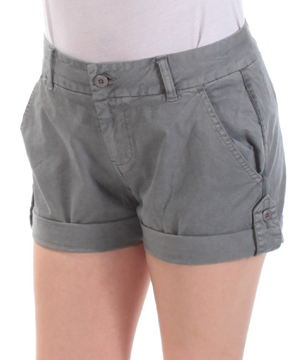 Lucky Brand Womens Adjustable Flat Front Cargo Shorts Gray 0