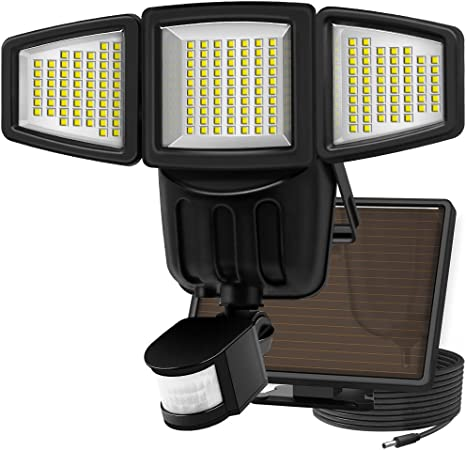 Costech 90 LED Weatherproof Ultra-Bright Solar Light Outdoor with Motion Sensor