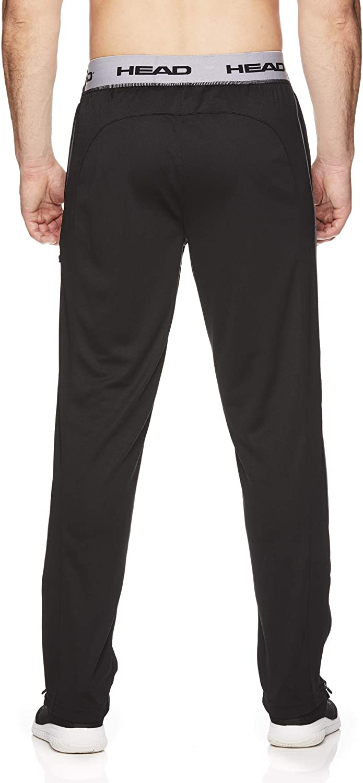 HEAD Mens Running Pants Performance Jogging Workout /& Training Sweatpants w//Zippered Pockets
