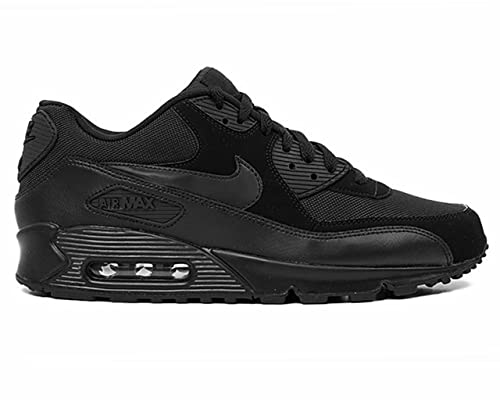 Nike AIR MAX 90 Essential Black Mens Running Trainers 537384 ...