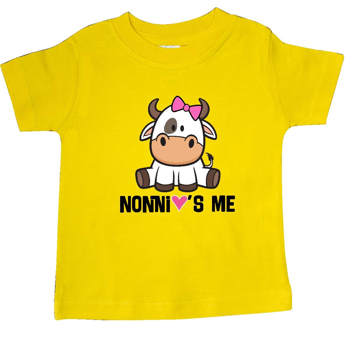 inktastic Nonni Loves Me Baby Cow Baby T-Shirt