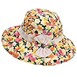 Panda Superstore Beach Hat Breathable Hat Summer Ms. Collapsible Sun Hat UV Large Brimmed
