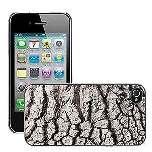 Etui Housse Coque de Protection Cover Rigide pour // M00150169 Estructura de la corteza Beaucarnea // Apple iPhone 4 4S 4G