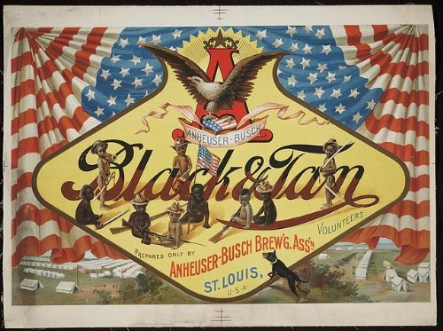 Photo: Anheuser-Busch black & tan prepared only by Anheuser-Busch brew'g ()