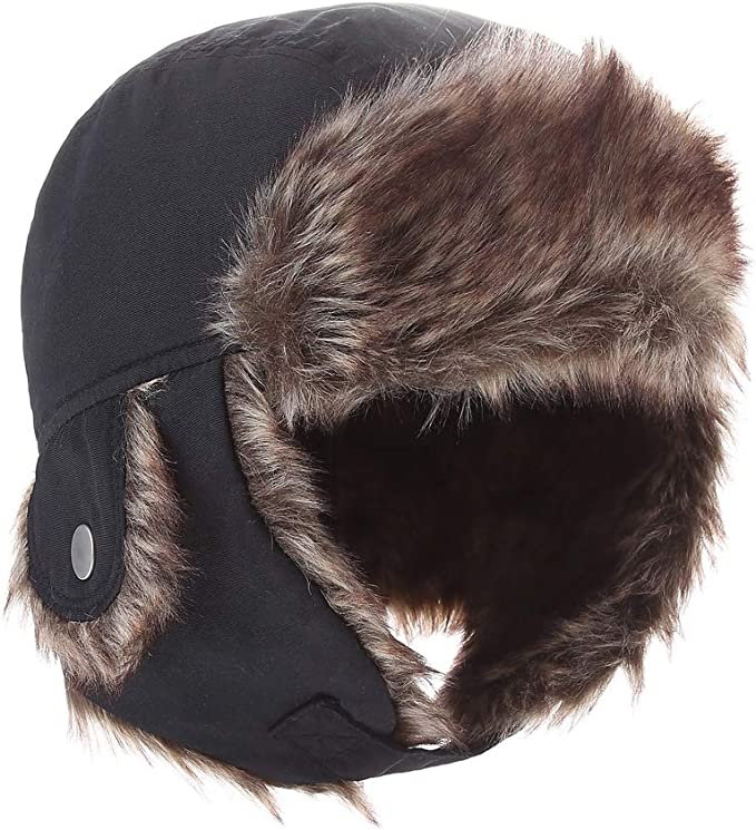 T WILKER Kids Winter Hat with Ear Flaps/&Breath Valve Cover Unisex Russian//Aviator Cap