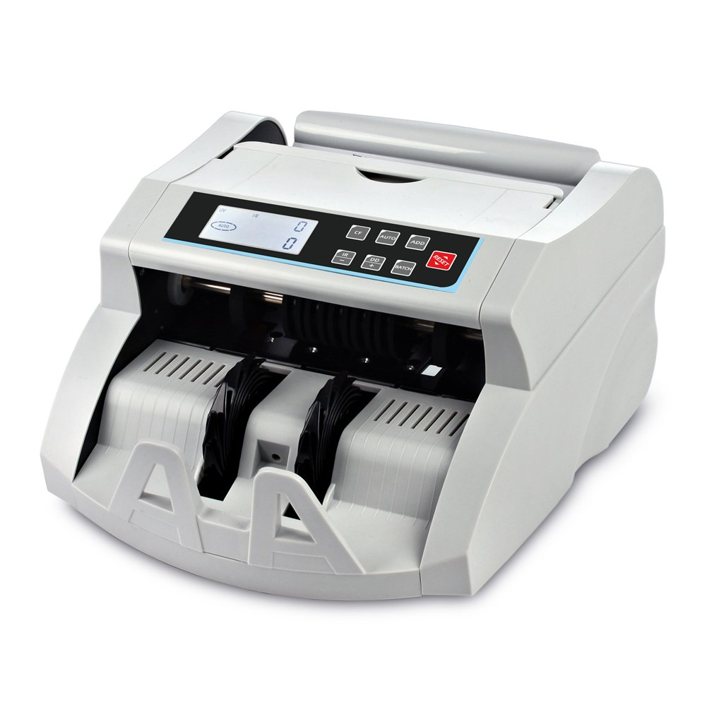 Money Counter Machine DOMENS Bill Counter UV/MG/IR/DD Counterfeit Detection Automatic Currency Cash Counting Machine(LCD Display) by DOMENS