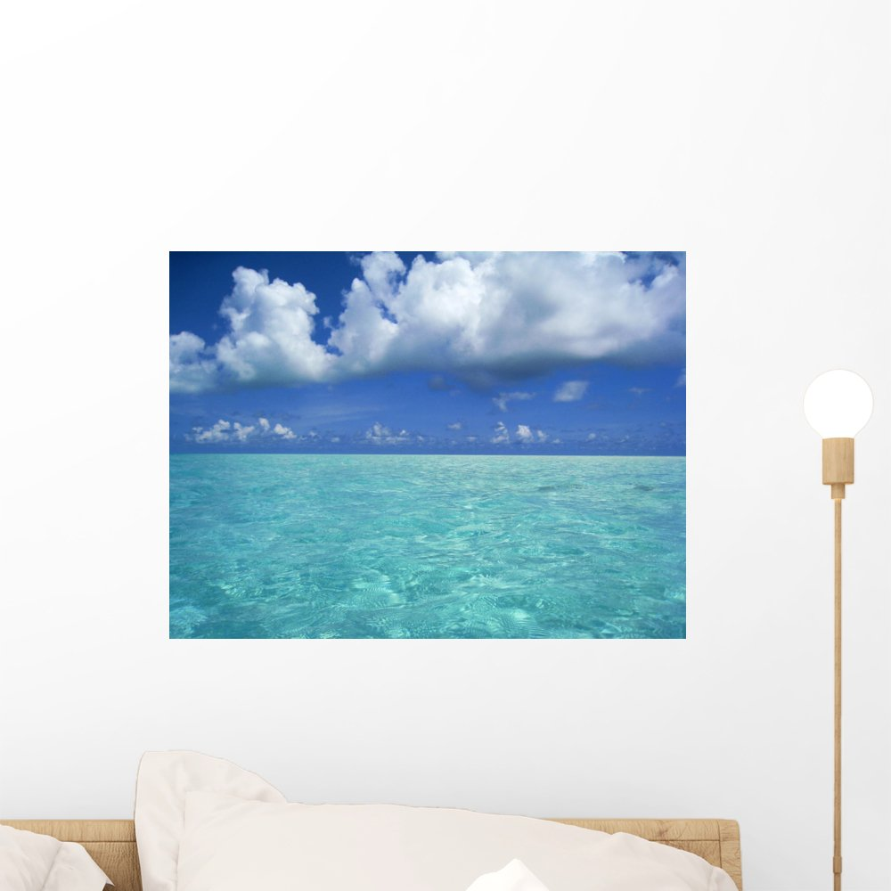 Wallmonkeys Lagoon View Wall Decal Peel and Stick Graphic WM3661 18 in W x 14 in H