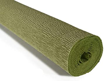 Crepe Paper Roll Premium Heavy Italian 140 g Sage Green 13.3 sqft
