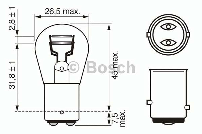 Bosch Lampes Pure Light P21//5W 12V 21//5W x10
