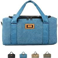 Travel Bag, Training Bag Handbag Gym Sports Bag Shoulder Bag for Men and Women 3 Ways to Carry Large Capacity,Blue,L
